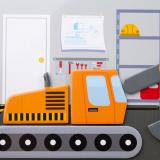 Dřevěné hračky Bigjigs Toys Magnetické puzzle Mechanik