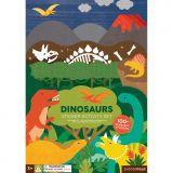 Petitcollage Znovu použitelné samolepky se scénou Dinosauři - poškozený obal