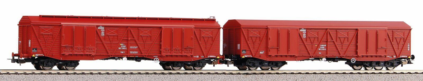 Dřevěné hračky Piko Sada 2 Krytých velkokapacitní vagonů 401Ka PKP V - 58232