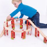 Dřevěné hračky Bigjigs Rail Kamenný železniční tunel - poškozený obal