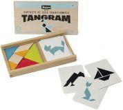 Dřevěné hračky Jeujura Tangram s předlohami