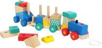 Dřevěné hračky Small Foot Dřevěný vláček s barevnými kostkami - poškozený obal Small foot by Legler