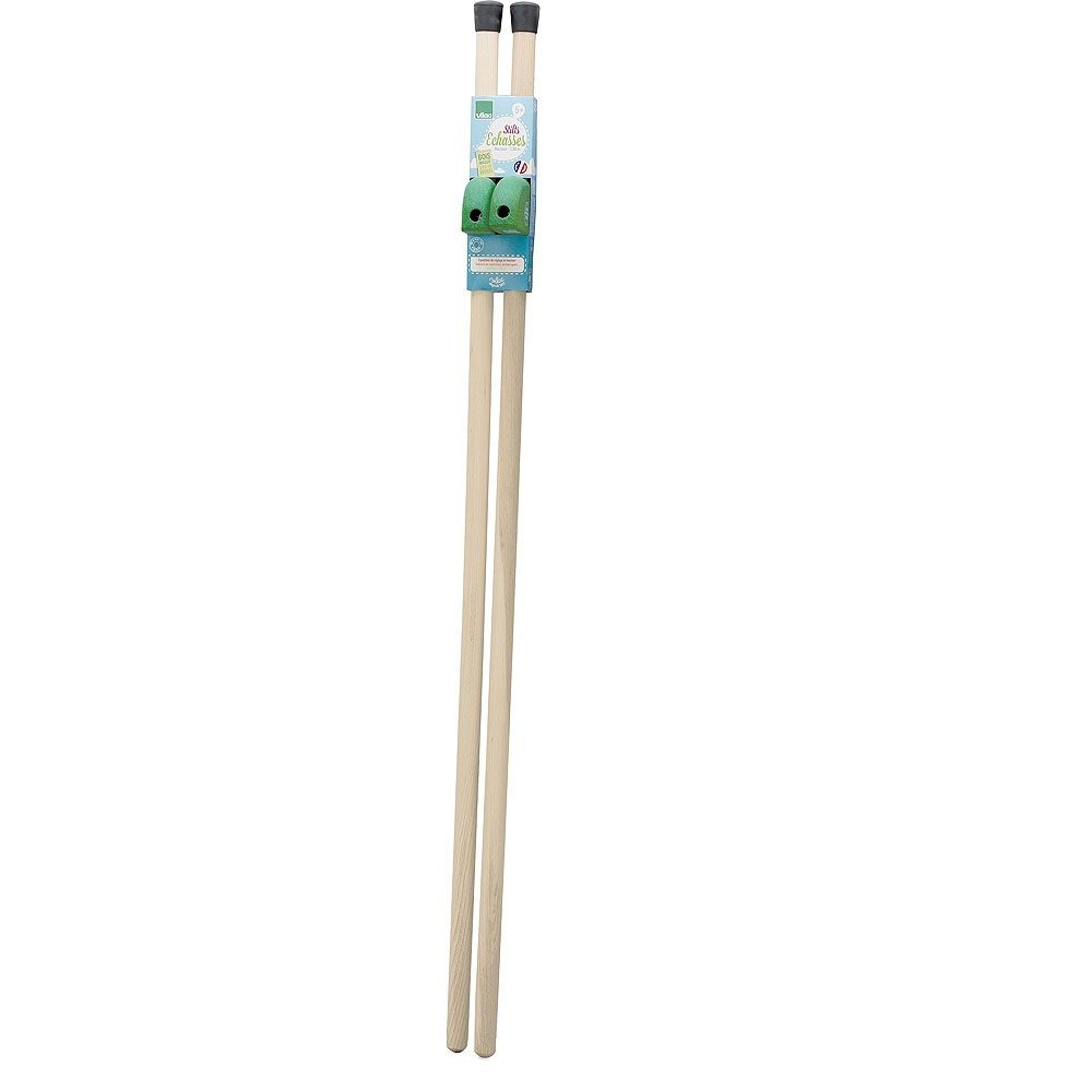 Dřevěné hračky Vilac Dřevěné chůdy zelené 130 cm