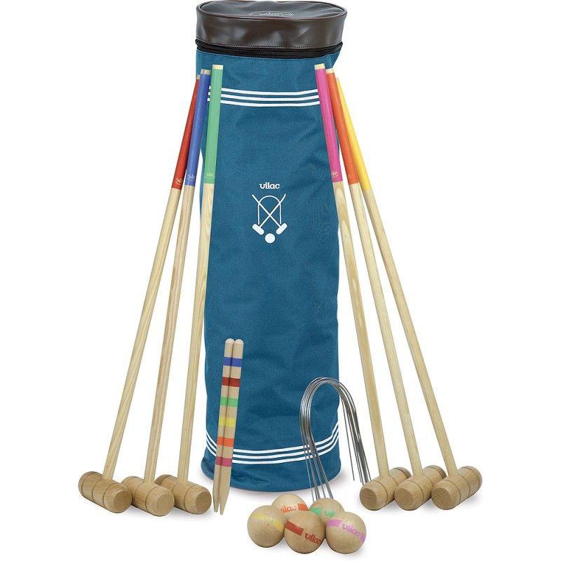 Dřevěné hračky Vilac Kroket pro 6 hráčů s taškou