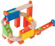 Dřevěné hračky Wonderworld Dřevěná kuličková dráha TRIX - Dvojitá jízda - zánovní zboží