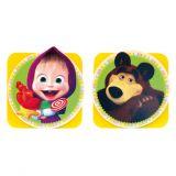 Bino Magnetické kolíčky Máša a medvěd
