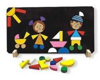 Detoa Magnetické puzzle Děti  poškozený obal