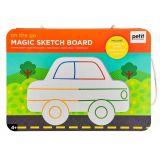 Petitcollage Magnetická kreslící tabulka Na cestách