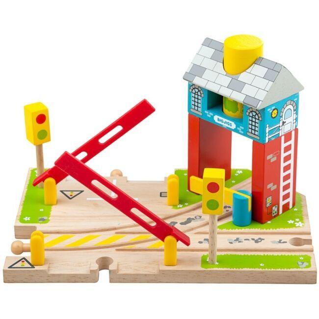 Dřevěné hračky Bigjigs Rail Závory s návěstím poškozený obal