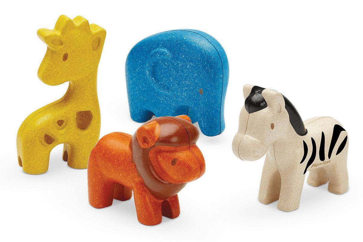 Dřevěné hračky PlanToys Sada figurek divokých zvířat