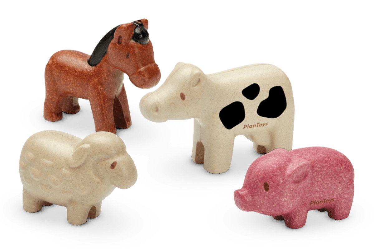 Dřevěné hračky PlanToys Sada figurek domácích zvířat