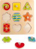 Small Foot Dřevěné puzzle barevné tvary poškozený obal
