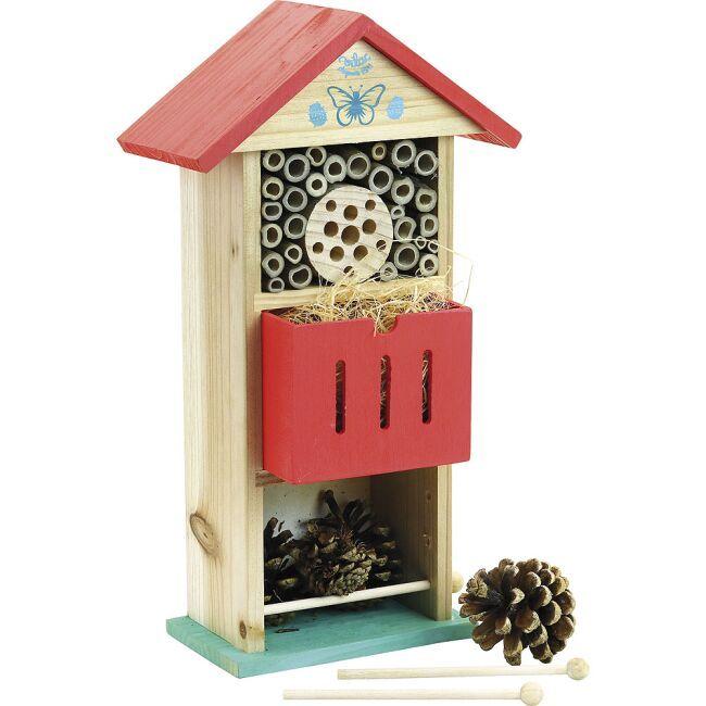 Dřevěné hračky Vilac Hmyzí hotel červený poškozený obal