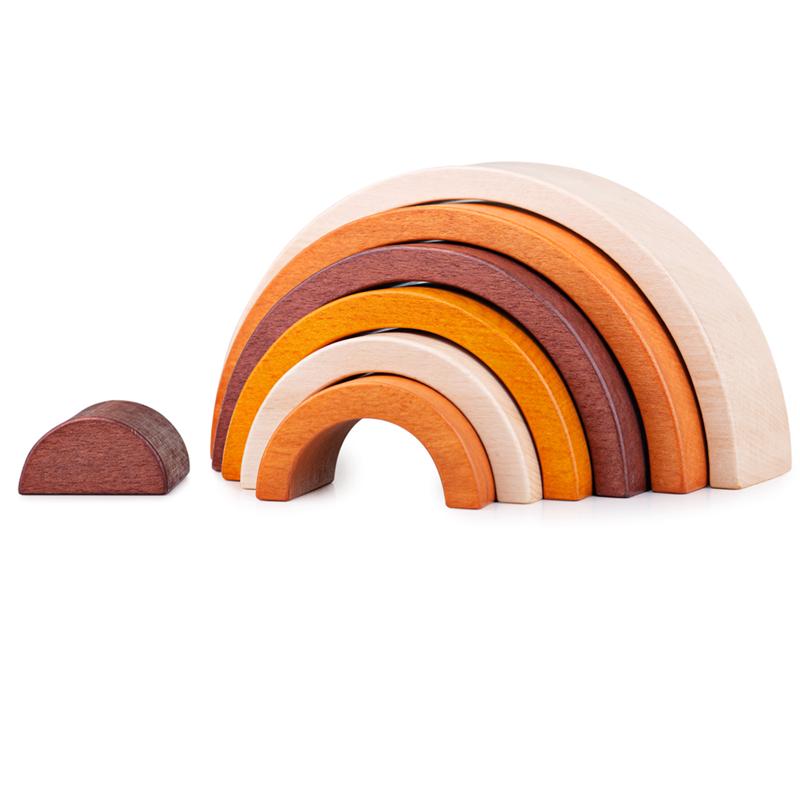 Dřevěné hračky Bigjigs Baby Dřevěná skládací duha přírodní Bigjigs Toys