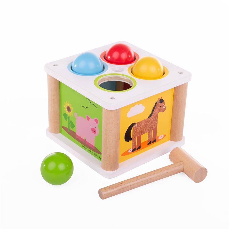 Dřevěné hračky Bigjigs Baby Dřevěná zatloukačka Farma Bigjigs Toys