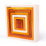 Dřevěné hračky Bigjigs Baby Dřevěné skládací čtverce Bigjigs Toys