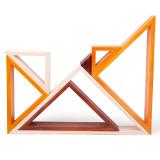 Dřevěné hračky Bigjigs Baby Dřevěné skládací trojúhelníky Bigjigs Toys