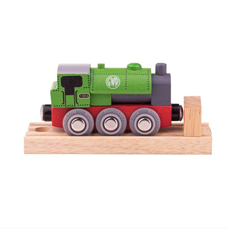 Dřevěné hračky Bigjigs Rail Dřevěná lokomotiva GWR zelená