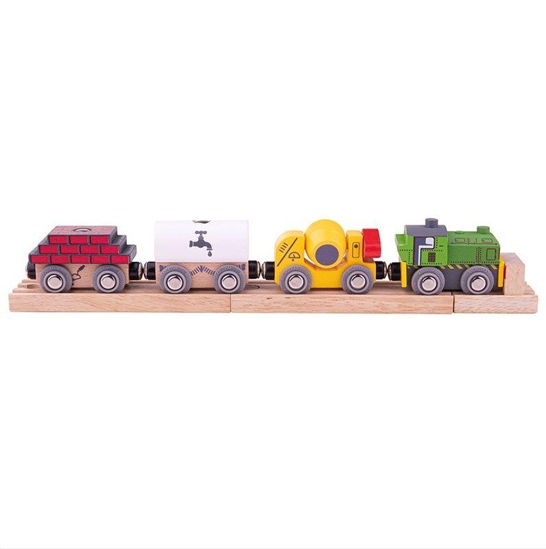 Dřevěné hračky Bigjigs Rail Dřevěný stavební vlak