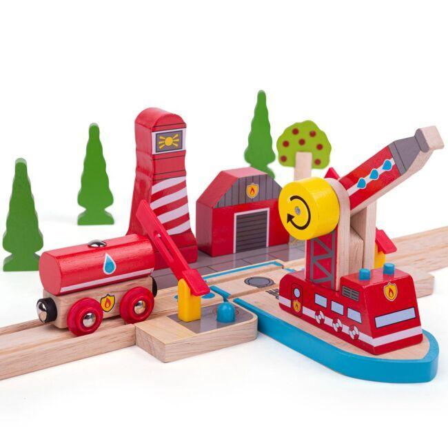 Dřevěné hračky Bigjigs Rail Hasiči mořští záchranáři poškozený obal