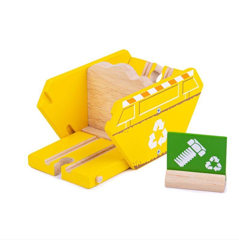 Dřevěné hračky Bigjigs Rail Kontejner recyklace