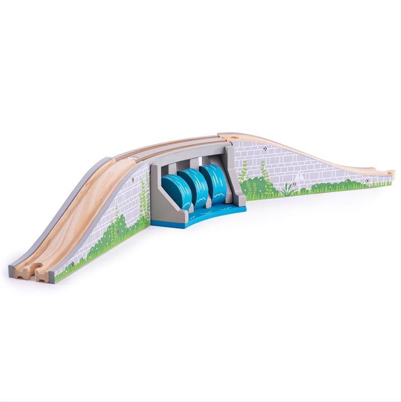 Dřevěné hračky Bigjigs Rail Most s vodopádem
