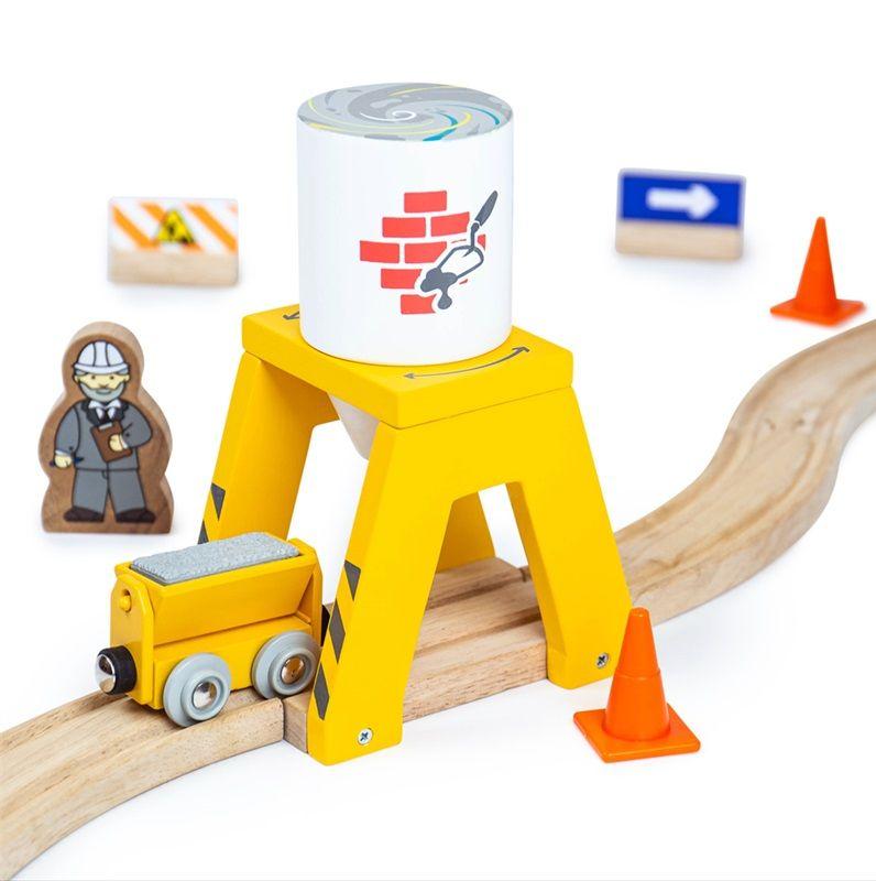 Dřevěné hračky Bigjigs Rail Silo s cementem