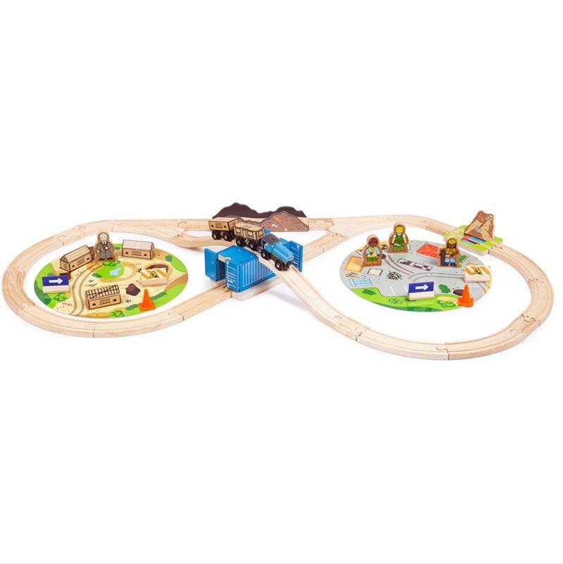 Dřevěné hračky Bigjigs Rail Vláčkodráha Stavba