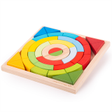 Dřevěné hračky Bigjigs Toys Dřevěné skládací oblouky a trojúhelníky