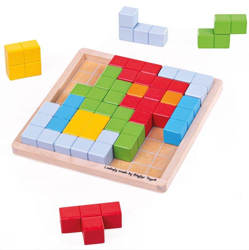 Dřevěné hračky Bigjigs Toys Dřevěný hlavolam bloky