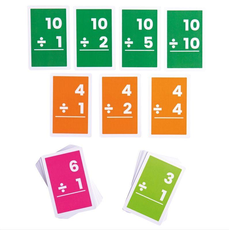 Dřevěné hračky Bigjigs Toys Kartičky dělení 1-10