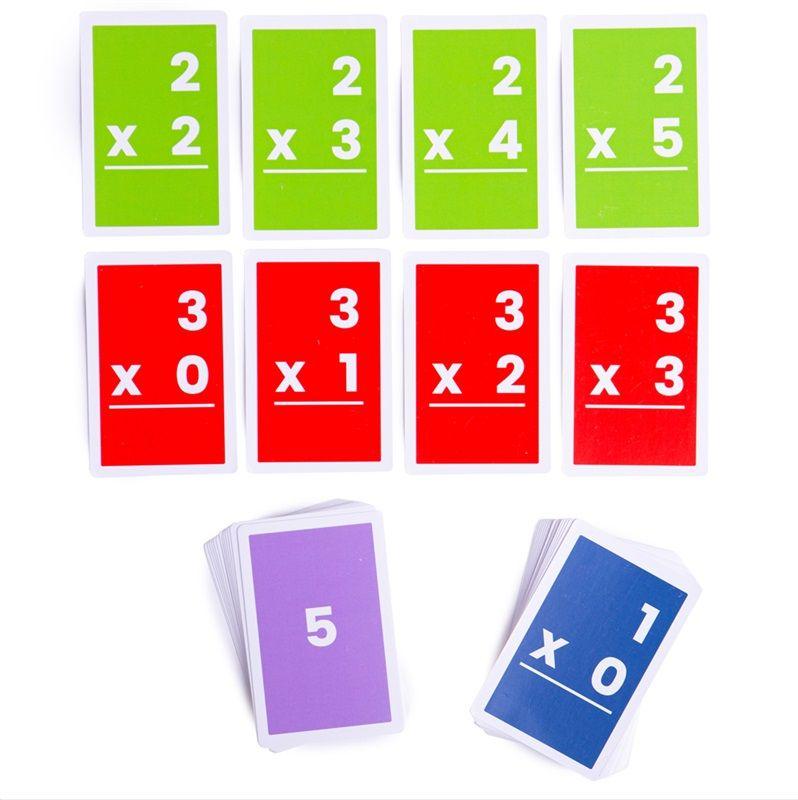 Dřevěné hračky Bigjigs Toys Kartičky násobení 1-6