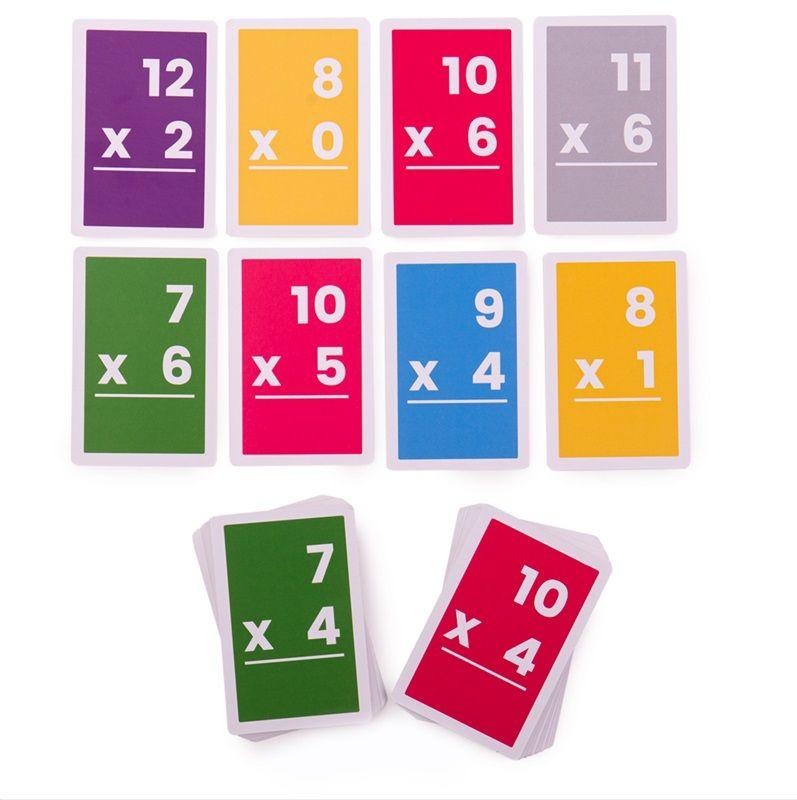 Dřevěné hračky Bigjigs Toys Kartičky násobení 7-12