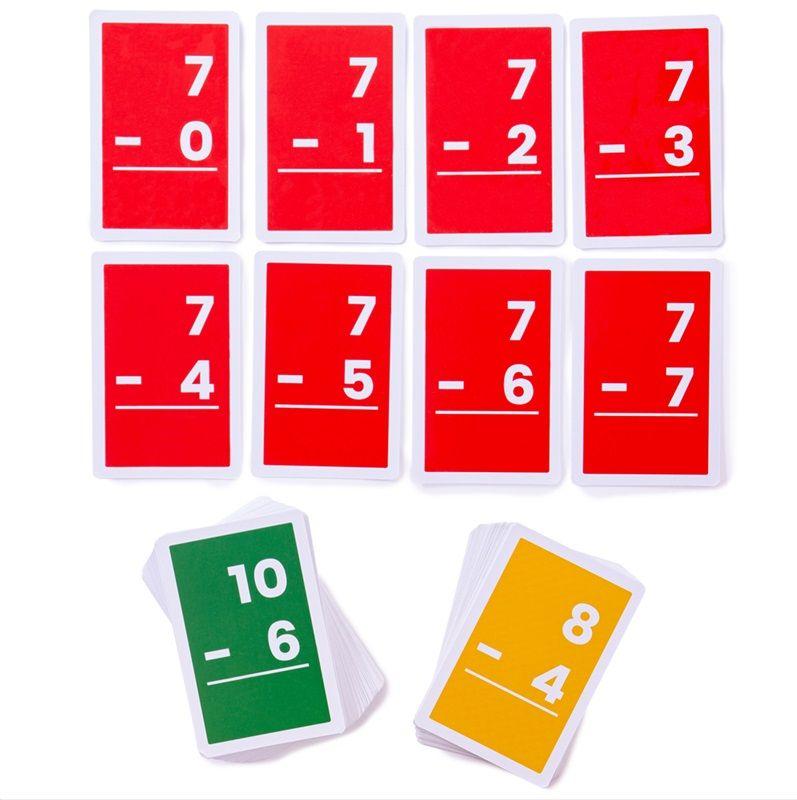 Dřevěné hračky Bigjigs Toys Kartičky odčítání 1-10