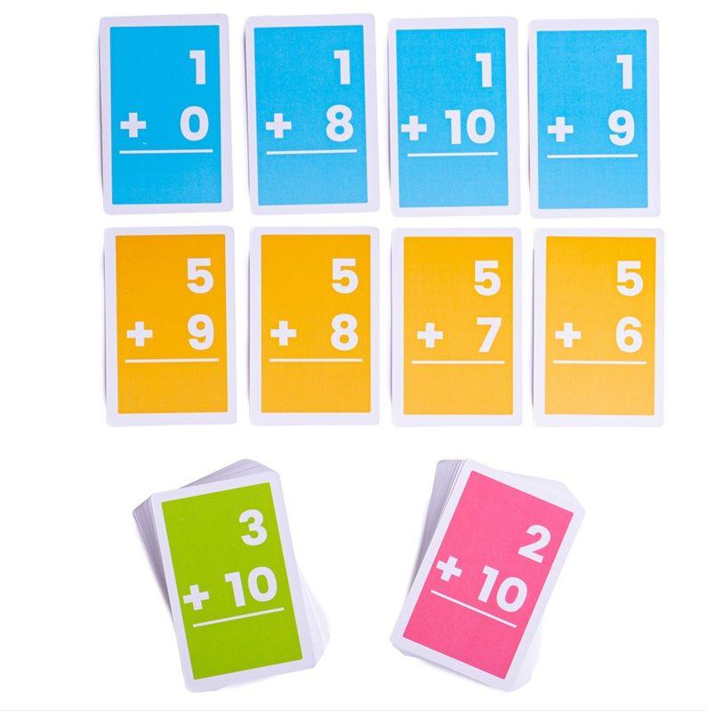 Dřevěné hračky Bigjigs Toys Kartičky sčítání 1-10