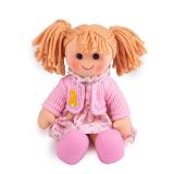 Dřevěné hračky Bigjigs Toys Látková panenka Ella 34 cm