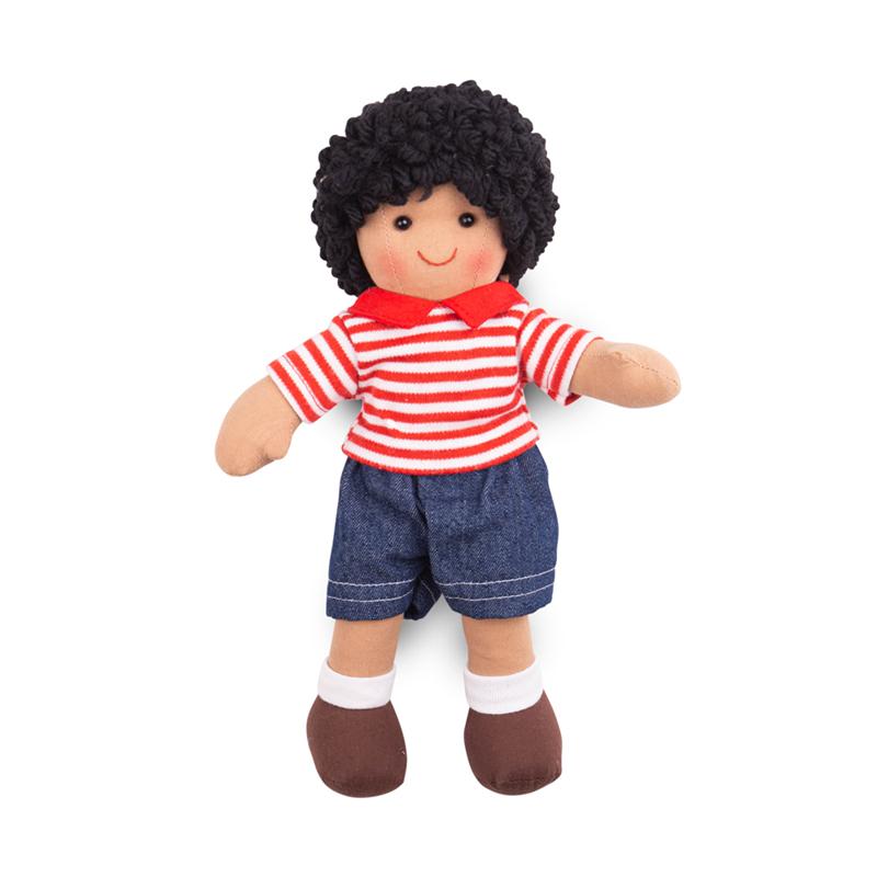 Dřevěné hračky Bigjigs Toys Látková panenka Otis 28 cm