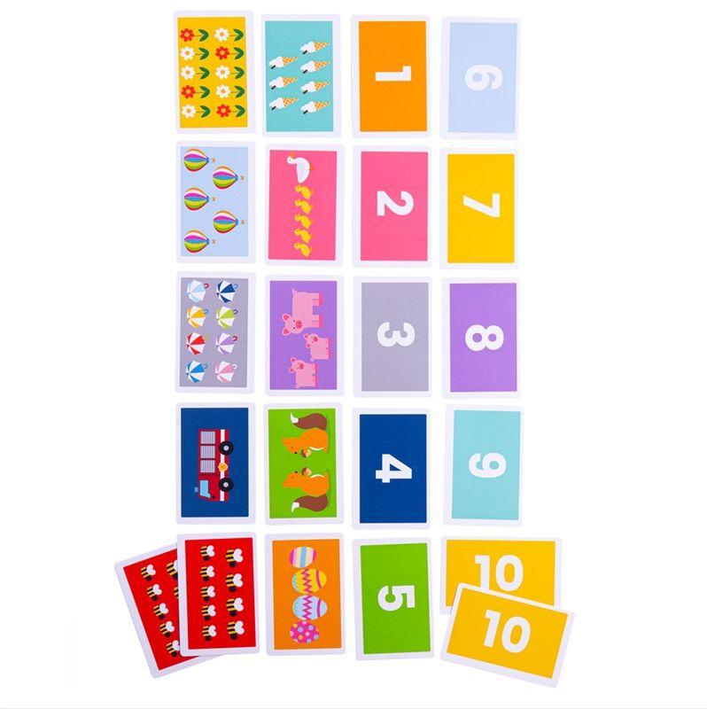 Dřevěné hračky Bigjigs Toys Přiřaď kartičky 1-10
