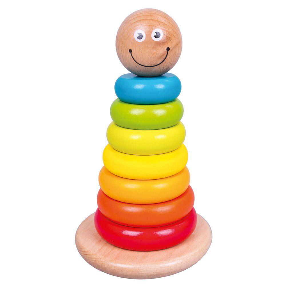 Dřevěné hračky Bino Kroužky na tyči