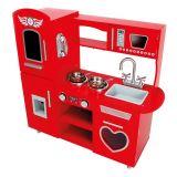 Dřevěné hračky Bino Kuchyňka červená