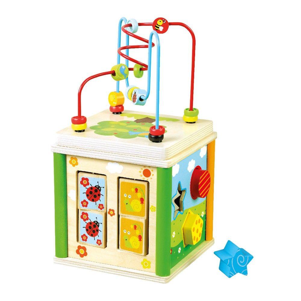 Dřevěné hračky Bino Motorická kostka
