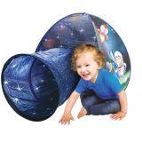 Dřevěné hračky Bino Stan s tunelem kosmonaut