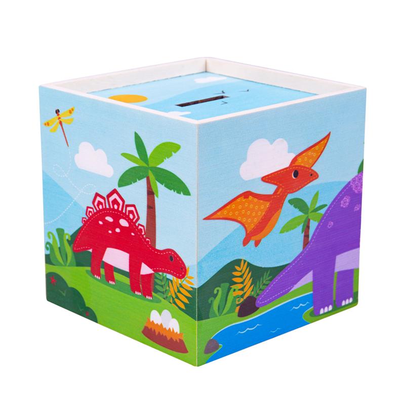 Dřevěné hračky Tidlo Pokladnička Dinosauři