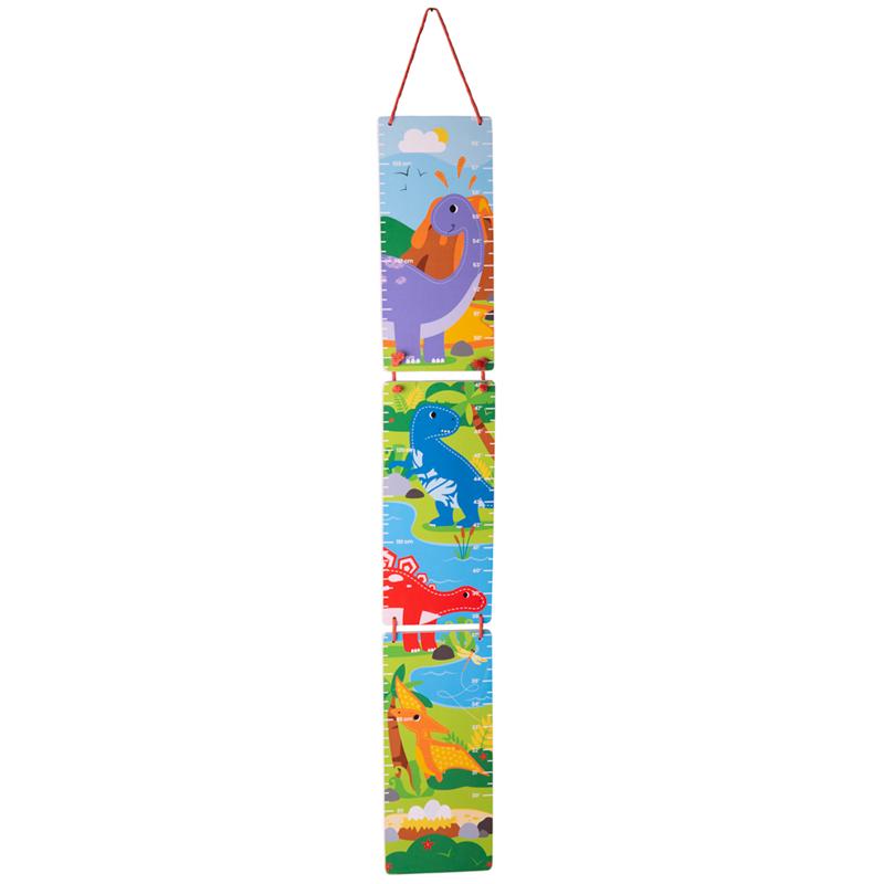 Dřevěné hračky Tidlo Závěsný metr dinosauři