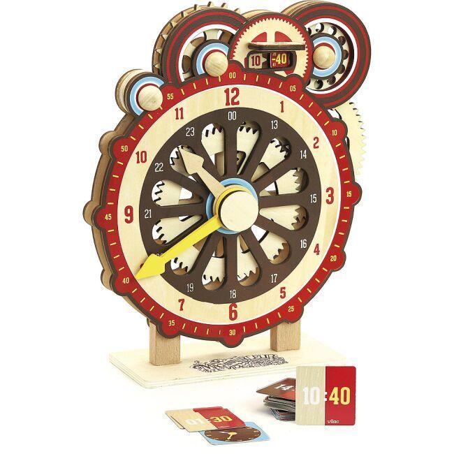 Dřevěné hračky Vilac Dřevěné didaktické hodiny poškozený obal