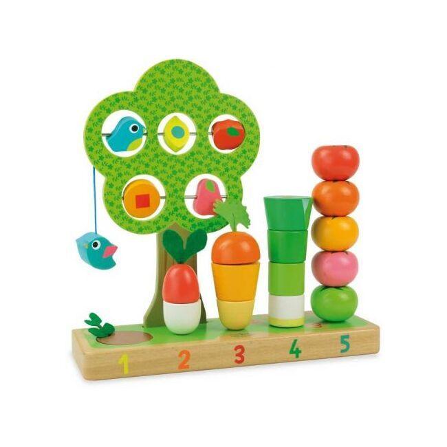 Dřevěné hračky Vilac Nauč se počítat Zahrádka rozbaleno