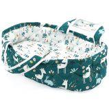 Petitcollin Přenosná taška zeleno-bílá (pro panenku 28 cm)
