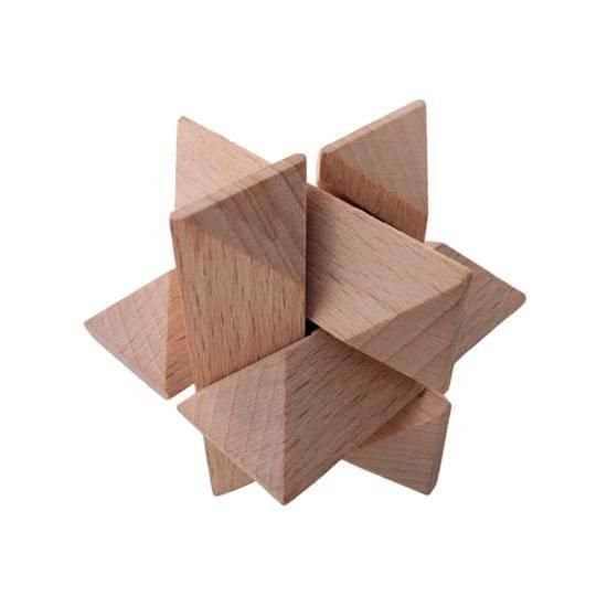 Dřevěný hlavolam Star 1