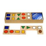 Dřevěné Domino obrázkové - geometrické tvary