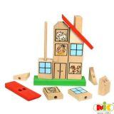 Dřevěné Puzzle Domeček